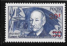 Yvert 493 * Clément Ader 1940 - 1941 - Ongebruikt