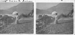 070 - PO - HAUTE-SAVOIE - DUINGT - Vue Sur Le Chateau - Glass Slides