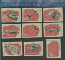 HELICOPTER HÉLICOPTÈRE  SPUTNIK SPACE ESPACE RUIMTEVAART ROCKET FUSEE RAKET URSS Matchbox Labels - Matchbox Labels