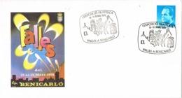 34498. Carta Exposicion BENICARLÓ (Castellon) 1991. Las FALLAS - 1931-Hoy: 2ª República - ... Juan Carlos I
