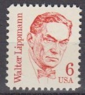 USA 1985 Walter Lippmann 1v ** Mnh (45087E) - Ongebruikt