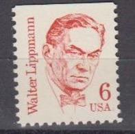 USA 1985 Walter Lippmann 1v (1side Cut) ** Mnh (45087F) - Ongebruikt