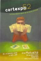 SALON CARTES POSTALES - PARIS 5 ° - CARTEXPO 52 (16 Et 17 Janvier 2009) à La MUTUALITE - CPM Grand Format - Borse E Saloni Del Collezionismo