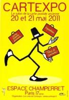 SALON CARTES POSTALES - PARIS 17 ° - CARTEXPO 57 (20 Et 21 Mai 2011) à L'ESPACE CHAMPERRET - CPM Grand Format - Borse E Saloni Del Collezionismo