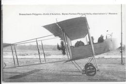 Brasschaet-Polygone. Ecole D'Aviation.Biplan Farman Pilot Lt Nelis;observaterLt Massaux. - Brasschaat