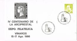 34500. Carta Exposicion VINAROZ (Castellon) 1986. IV Centenario De La Arciprestal - 1931-Hoy: 2ª República - ... Juan Carlos I