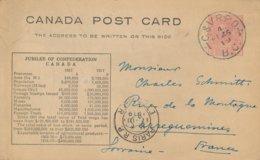 Canada Post Card Jubilee Of Confederation 1867 - 1917 Circulé % C & VR P. O. % 1919 B. C. - 1903-1954 Kings