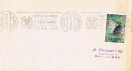 34501. Carta ELDA (Alicante) 1973. Rodillo Especial Fiestas MOROS Y CRISTIANOS - 1931-Hoy: 2ª República - ... Juan Carlos I