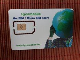 GSM Card LYCAMOBILE Belgium For Collectors Not For Calling(Mint,Neuve) 2 Scans Rare - Belgique