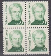 USA 1985 Sylvanus Thayer 1v Bl Of 4 ** Mnh (45087G) - Ongebruikt