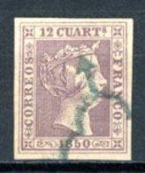 Espagne  1850  Isabelle II     Y&T   2    Obl    ---     Parfait état - Usati