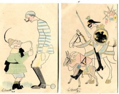 DESSINS Caricatures (2)  Format Carte Postale :signés G Lacoste   1018 - War 1914-18