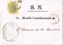 34504. Envuelta S.N. LOGROÑO (Rioja) 1864. Servicio Oficial, Rueda Carreta 33 - Cartas