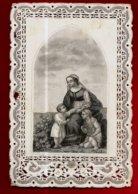 Image Pieuse Religieuse Holy Card Canivet Dentelle Mère De L'Eglise Catholique Nous Sommes Vos Enfants Priez Pour Nous - Santini