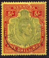 Bermuda 1938 5/- SG118 - Used (faults) - Bermuda