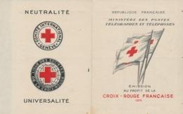 DE-15: FRANCE: Lot Avec Carnet Croix Rouge De 1955** (légère Adhérence Sur 5 Timbres) - Markenheftchen