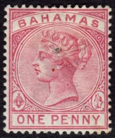 Bahamas 1884-90 1d  Pale Rose SG47 - Mint Previously Hinged - Bahama's (1973-...)