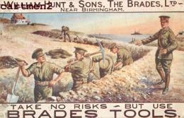 WILLIAM HUNT § SONS THE BRADES BIRMINGHAM ILLUSTRATOR D. NEWHOUSE TRANCHEE ENGLAND PATRIOTISME PATRIOTIQUE Patriotismus - Patriotic