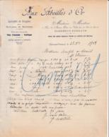"""63 CLERMONT FERRAND  Spécialité De Dragées Pates De Fruits D' Auvergne  """" Aux Abeilles D' Or """" MARTINI - X41 Puy De Dome - 1900 – 1949"""