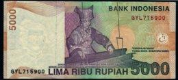 Indonésie 2001 5000 Rupiah  See Explain - Indonesië
