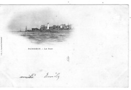 """44 LOIRE Atlantique Le Port De PAIMBOEUF Carte """"nuage"""" Précurseur - Paimboeuf"""