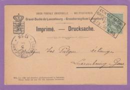 "BAHNPOST/AMBULANT ""ECHTERNACH-GREVENMACHER"". - 1895 Adolphe Right-hand Side"