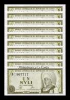 Guinea Lot Bundle 10 Banknotes 1 Syli 1960 Pick 20 SC UNC - Guinee