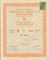 HORTICOLE VITICOLE MARAICHERE Fondée à Bruxelles En 1900 Belgique Bloemen Druiven Groentenweekers - Agriculture