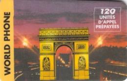 Carte Prépayée  - WORLD PHONE  -  Prépaid - France