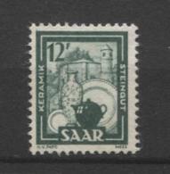 15403 SARRE N°259 (*)  12 F Industrie :  Céramique   1949  TB - Unused Stamps