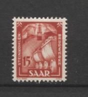 15404 SARRE N°260*  15 F Industrie :  Houillère   1949  TB - Unused Stamps