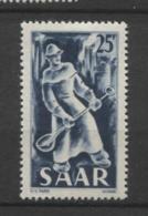 15405 SARRE N°261* 25 F Industrie :  Fonderie   1949  TB - Unused Stamps