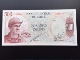 CHILE P145 500 ESCUDOS 1971 UNC - Chili