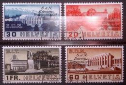 """Schweiz Suisse 1938: Dienst IV Service """"S.d.N Bureau International Du Travail"""" (BIT) Zu+Mi 49-52 O (Zu CHF 25.00) - Officials"""