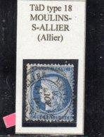 Allier - N° 60C Obl TàD Type 18 Moulins-s-Allier - 1871-1875 Cérès