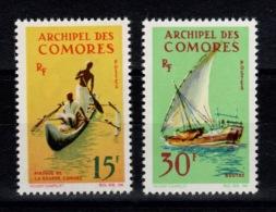 Comores - YV 33 & 34 N** Bateaux : Pirogue & Boutre Cote 10 Euros - Comores (1950-1975)