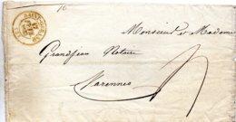 Allier - LAC De Février 1833 (faire-part) Càd Type 13 Saint-Gérand (amélioration De Date, Car Signalé Après Avril 1834) - Marcophilie (Lettres)