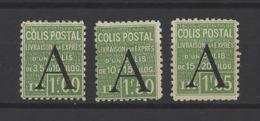 FRANCE.  YT  Colis Postaux   N° 85/87  Neuf *  1928 - Pacchi Postali