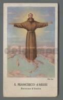ES3386b S. SAN FRANCESCO D ASSISI PATRONO D ITALIA PITT. POSI BRACCI E MANZINI - Religione & Esoterismo
