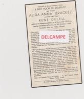 DOODSPRENTJE BRACKEZ ALIDA WEDUWE DELEU WESTROZEBEKE STADEN (1898 - 1948)  BEWERKT TEGEN KOPIEREN - Andachtsbilder