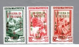TRIESTE A   1953  FIERA DI TRIESTE   CAT. SASSONE 178/180 NUOVA   MNH** - Nuovi