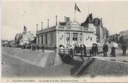 14, Calvados, VILLERS SUR MER, Le Casino Et La Rue Tarbouriech-Nadal, Scan Recto Verso - Villers Sur Mer