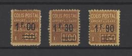 FRANCE.  YT  Colis Postaux   N° 47-49-52  Neuf *  1926 - Pacchi Postali
