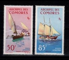 Comores - YV PA 10 & 11 N** Bateaux : Pirogue Et Goelette Cote 9,50 Euros - Comores (1950-1975)
