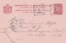 Indes Neerlandaises Entier Postal Pour L'Allemagne 1898 - Niederländisch-Indien