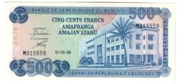 BURUNDI500FRANCS01/05/1988P33UNC.CV. - Burundi