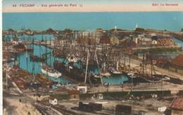 CPA FECAMP 76 - Vue Générale Du Port - Fécamp