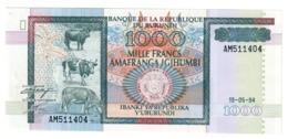 BURUNDI1000FRANCS19/05/1994P39UNC.CV. - Burundi