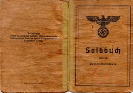 (Kart-ZD) Soldbuch 2.WK Kanonier Ausgestellt Görlitz 11.5.33 Mit Einträgen Bis 24.10.44 - Documents Historiques