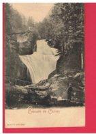 CPA-65-ENVIRONS DE CAUTERETS-CASCADE DE CERISEY-ANIMEE-UN HOMME SUR LA PASSERELLE- - Non Classés